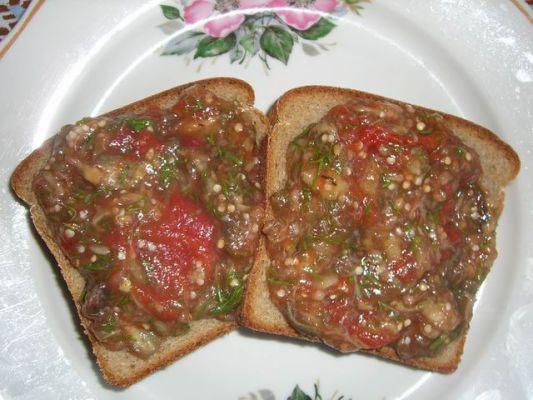 Caviar d'aubergine ou de courgettes.